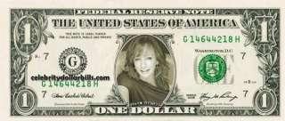REBA MCENTIRE SET OF 4 CELEBRITY DOLLAR BILL UNCIRCULATED MINT US