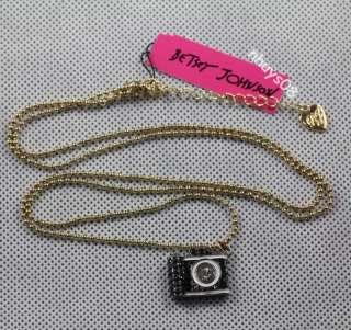 JOHNSON Jewelry Black camera necklace bracelet earrings Ring Set