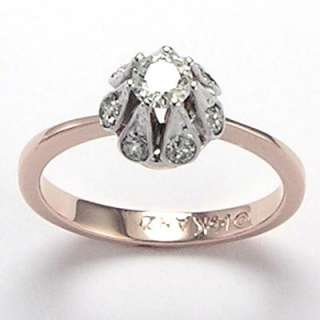 style Diamond Engagement Ring 14k Rose & White Gold #R633