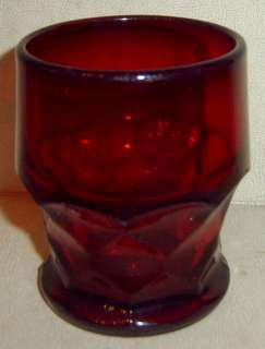 Anchor Hocking Ruby Red Georgian 3 3/4 Glass Tumbler