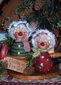 Christmas Mrs. Claus Santa Ann Doll Ornies Pattern #393