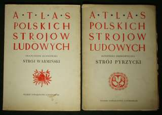 LOT 5 Rare Polish Folk Costume Books ethnic dress peasant fashion