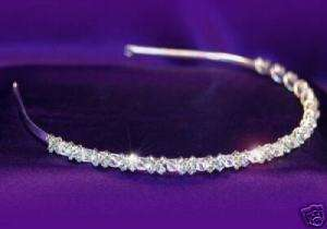 Bridal Clear Crystal Rhinestone Headband Tiara T1065