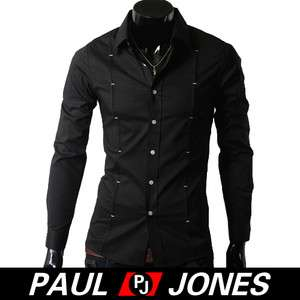PJ NEW Handsome MENS SLIM Buttons DRESS&SHIRTS FITTED