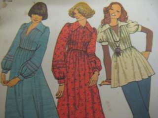 VTG Simplicity 7191 Women PEASANT BLOUSE Sewing Pattern