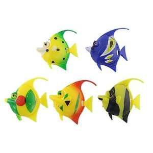 Como 5 Pcs Colors Plastic Surgeonfish Tropical Fish