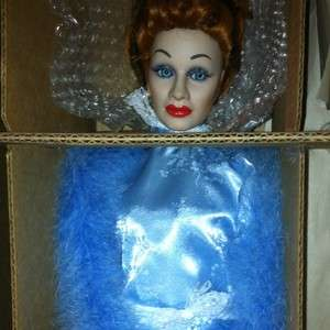 Lucille Ball I LOVE LUCY WALK Of FAME Hollywood PORCELAIN DOLL Blue