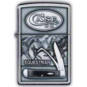 Zippo Custom Lighter   Case Emblem Equestrian 1st Ed