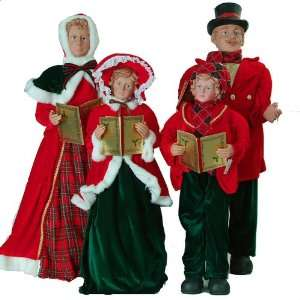 4 Piece Large Traditional Victorian Caroler Family