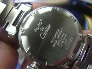 Cartier Pasha C GMT Steel Auto watch W31029M7, with Box Very Good