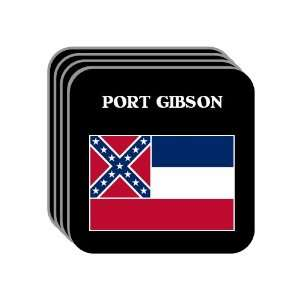 US State Flag   PORT GIBSON, Mississippi (MS) Set of 4 Mini Mousepad