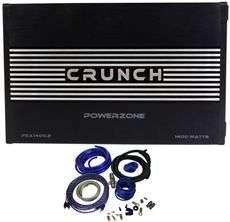 CRUNCH PZA1400.2 1400 WATT 2 CHANNEL AMPLIFIER+AMP KIT 806576218043