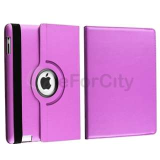 Rotating Stand Smart Swivel Cover Leather Case with Stand For iPad 2