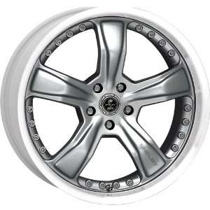 18x9 American Racing Shelby Razor (Anthracite w/ Machined Lip) Wheels