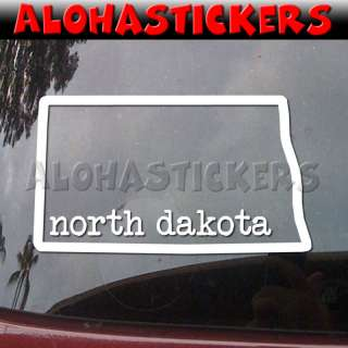 NORTH DAKOTA STATE Vinyl Decal Truck Window Sticker Q68