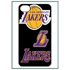 NBA LA Lakers iPhone 4 iPhone4 Black Designer Hard Case