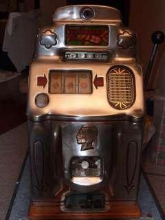 Jennings Standard Chief 25 Cent Mechanical Slot Machine Circa 1945