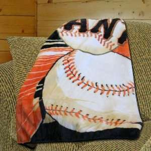 San Francisco Giants Big Stick Royal Plush Blanket Throw