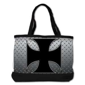 Bag Purse (2 Sided) Black Iron Malese Cross Plae