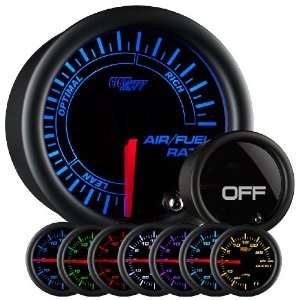 GlowShift Tinted 7 Color Needle Air / Fuel Ratio Gauge Automotive