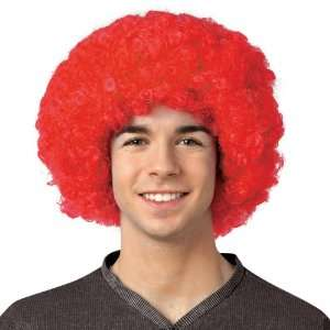 Imposta Crayola Red Afro Adult Wig / Red   One Size