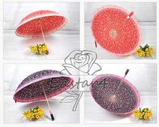 Super Light Bubble Pattern Windproof Rain/Sun Umbrella w/24 Skeleton