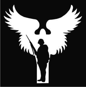 Soldiers Angels US Army Die Cut Vinyl Decal Sticker