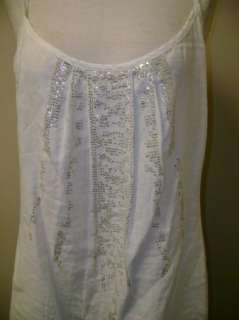 Eileen Fisher Sequined Cami Dress White NWT $248