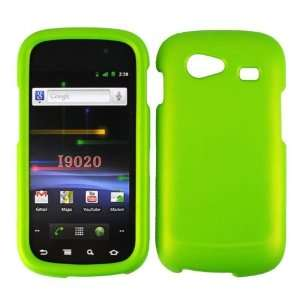 Green Rubberized Snap on Hard Skin Shell Protector Faceplate Cover