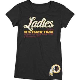 Tops Reebok Washington Redskins Womens Lady Love Cap Sleeve T Shirt