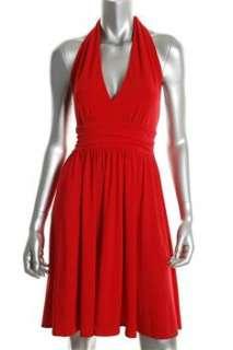 FAMOUS CATALOG Moda Red Casual Dress BHFO Sale L |