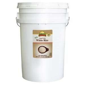 Augason Farms Long Grain White Rice 44 lbs Pail Emergency Storage Food