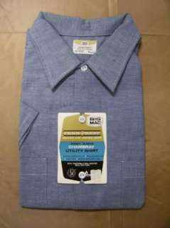 VTG Big Mac Chambray Cotton Work Shirt Sz XL 70s NOS