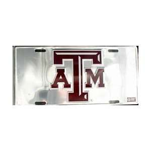 Texas A&M University Chrome LICENSE PLATES Plate Tag Tags auto vehicle