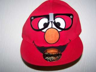 Sesame Street Elmo Tickle Me Vintage Retro Flatbill Hat L/X Large New
