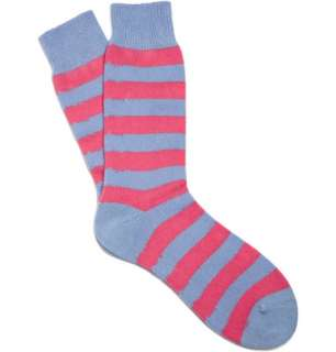Accessories  Socks  Casual socks  Striped Cashmere