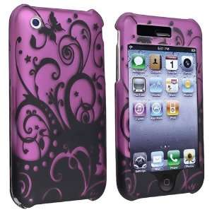 Purple / Black Swirl Snap on Case + Mirror Screen