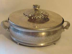 Hammered Forged Aluminum Casserole Pan Serve Rose lid