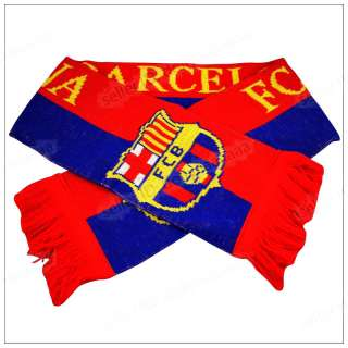 Football Team FCB Barcelona Soccer Soft Knitted Scarf