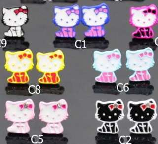 Hello Kitty Stainless Earring 9 Styles birthday gift C