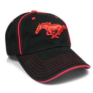 Ford Mustang Red Pony Black Baseball Cap, Official
