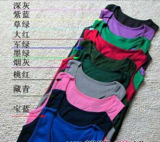 Korean Womens Chic Cotton Slim Fit Sleeveless Vests Sexy Tops One Size