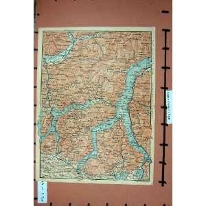 MAP 1901 SWITZERLAND COMO BELLINZONA LUGANO ERBA: Home