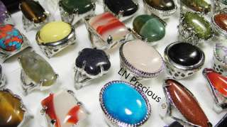 HOT ON SALE wholesale lots 20pcs Big Natural stone Rings jewelry free