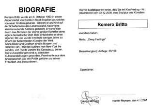 Romero Britto Pop Art Skulpturen Paar Deep Feelings (35/100
