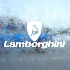 Lamborghini White Decal Logo Bull Car Window Laptop White