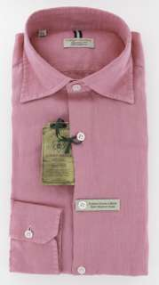 New $375 Borrelli Pink Shirt 17/43