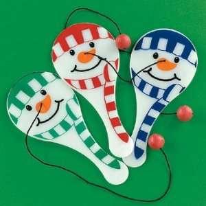 Mini Snowman Paddleballs   12 per unit Toys & Games