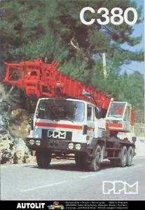 1989 PPM C380 35 Ton Boom Crane Truck Brochure France