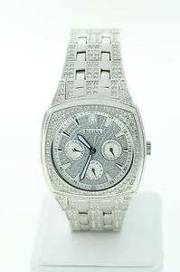 Bulova 96C002 Mens Stainless Steel Crystal Day Date Watch